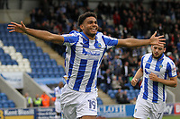 Mikael Mandron of Colchester United celebrates getting the second goal for his team during Colchester United vs Mansfield Town, Sky Bet EFL League 2 Football at the Weston Homes Community Stadium on 7th October 2017