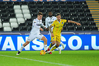 George Byers of Swansea City U21 in action during the Checkatrade Trophy match between Swansea City U21 and Bristol Rovers at the Liberty Stadium in Swansea, Wales, UK. Wednesday 05 December 2018