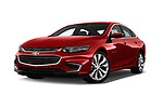 Stock pictures of low aggressive front three quarter view of a 2018 Chevrolet Malibu Premier 4 Door Sedan