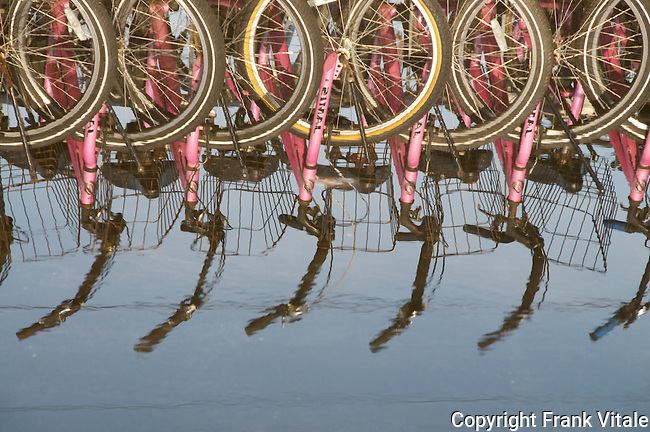 Bicycles Ready to Rent near the Block Island Ferry Terminal on Old Harbor
