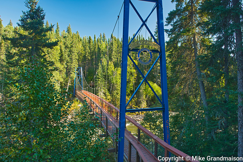 Rotary Bridge over the Grass River below Pisew Falls<br />