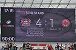 14.04.2018, BayArena, Leverkusen , GER, 1.FBL., Bayer 04 Leverkusen vs. Eintracht Frankfurt<br /> im Bild / picture shows: <br /> endstand 4:1<br /> <br /> <br /> Foto &copy; nordphoto / Meuter