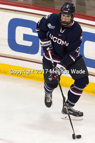 Joseph Masonius (UConn - 13) - The Boston College Eagles defeated the visiting UConn Huskies 2-1 on Tuesday, January 24, 2017, at Kelley Rink in Conte Forum in Chestnut Hill, Massachusetts.