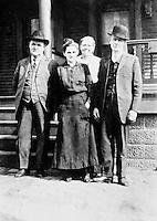 John Meegan, Catherine Litzinger, Jennie Meegan, and Milton Litzinger<br /> <br /> Conrad>Leonard>John Leonard>Leonard Leas>Milton Albert