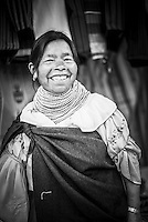 Portrait of a market stall owner in Otavalo Market, Imbabura Province, Ecuador