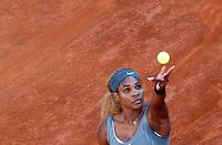 La statunitense Serena Williams agli Internazionali d'Italia di tennis a Roma, 17 maggio 2014.<br /> United States' Serena Williams during the Italian open tennis tournament, in Rome, 17 May 2014.<br /> UPDATE IMAGES PRESS/Riccardo De Luca