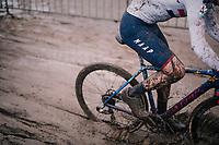 splashy Tom Pidcock (GBR/TPR)<br /> <br /> Superprestige cyclocross in Hoogstraten (BEL) / 2019<br /> Elite Men's Race<br /> <br /> &copy;kramon