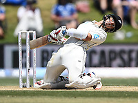 24th November 2019; Mt Maunganui, New Zealand;  BJ Watling ducks a bouncer during play on day 4 of the 1st international cricket test match, New Zealand versus England at Bay Oval, Mt Maunganui, New Zealand.  - Editorial Use