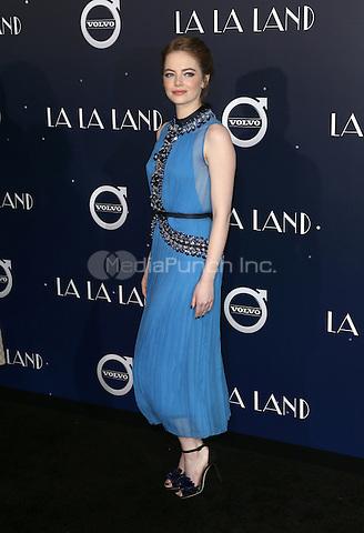 "Westwood, CA - DECEMBER 06:  Emma Stone, At Premiere Of Lionsgate's ""La La Land"" At Mann Village Theatre, California on December 06, 2016. Credit: Faye Sadou/MediaPunch"