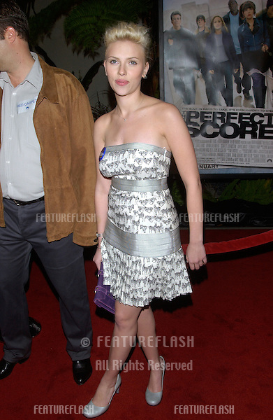 Actress SCARLETT JOHANSSON at the world premiere, in Hollywood, of her new movie The Perfect Score..January 27, 2004