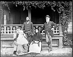 Frederick Stone negative. Dr. Benedict's Group. A. J. Blakelee's father.  1892.