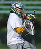Adam Winne #1, LIU Post goalie, makes a crucial save in the closing seconds of his team's 12-11 win over New York Institute of Technology in the ECC men's lacrosse championship at LIU Post on Saturday, May 7, 2016.