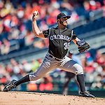 28 August 2016: Colorado Rockies starting pitcher Chad Bettis on the mound against the Washington Nationals at Nationals Park in Washington, DC. The Rockies defeated the Nationals 5-3 to take the rubber match of their 3-game series. Mandatory Credit: Ed Wolfstein Photo *** RAW (NEF) Image File Available ***