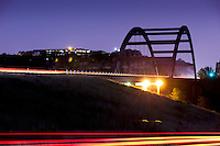 360 Bridge, aka Pennybacker Bridge, night blurred motion (long exposure)