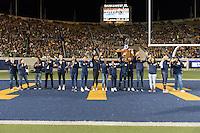Berkeley, Ca - October 21, 2016: The Cal Bears vs the Oregon Ducks at California Memorial Stadium. Final score Cal Bears 52, Oregon Ducks 49.