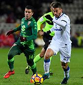 2nd December 2017, Stadio Olimpico Grande Torino, Turin, Italy; Serie A football, Torino versus Atalanta; Leonardo Spinazzola on the ball