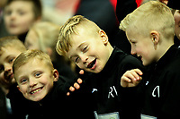 Young Fleetwood Town fans enjoy the pre-match atmosphere<br /> <br /> Photographer Alex Dodd/CameraSport<br /> <br /> The EFL Sky Bet League One - Fleetwood Town v Shrewsbury Town - Tuesday 13th February 2018 - Highbury Stadium - Fleetwood<br /> <br /> World Copyright &copy; 2018 CameraSport. All rights reserved. 43 Linden Ave. Countesthorpe. Leicester. England. LE8 5PG - Tel: +44 (0) 116 277 4147 - admin@camerasport.com - www.camerasport.com