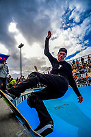 Chris Wood. 2019 Wellington Bowlzilla skateboarding tournament at Waitangi Park Skate Bowl in Wellington, New Zealand on Saturday, 9 March 2019. Photo: Dave Lintott / lintottphoto.co.nz