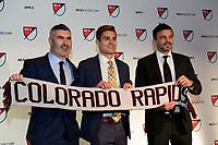 Philadelphia, PA - Friday January 19, 2018: Pádraig Smith, Alan Winn, Anthony Hudson during the 2018 MLS SuperDraft at the Pennsylvania Convention Center.