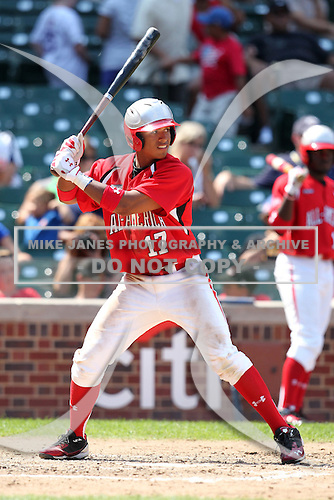 Shortstop Chris McFarland (17) during the 2010 Under Armour All-American Game powered by Baseball Factory at Wrigley Field in Chicago, New York;  August 14, 2010.  Photo By Mike Janes/Four Seam Images