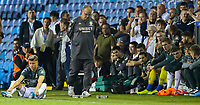 Leeds United manager Marcelo Bielsa nervously paces the technical area during the penalty shootout<br /> <br /> Photographer Alex Dodd/CameraSport<br /> <br /> The Carabao Cup Second Round- Leeds United v Stoke City - Tuesday 27th August 2019  - Elland Road - Leeds<br />  <br /> World Copyright © 2019 CameraSport. All rights reserved. 43 Linden Ave. Countesthorpe. Leicester. England. LE8 5PG - Tel: +44 (0) 116 277 4147 - admin@camerasport.com - www.camerasport.com