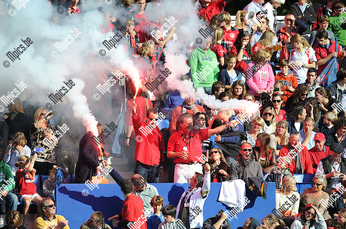 2011-10-23 / Hockey / seizoen 2011-2012 / EHL: Dragons - HC Rotterdam / De fans van Dragons..Foto: Mpics