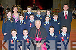 Pupils from Loughquittane NS, Killarney who were confirmed by Bishop Bill Murphy in St Mary's Cathedral, Killarney on Friday front row l-r: Michael Devlin, Darnen Looney, Jack Hanrahan, Ryam Mulvaney. Middle row: Emma Brosnan, Sadie Murphy, Michael O'Connor, Marie Quirke, Christopher Winne. Back row: Margaret O'Donoghue, Sean Fleming, Larisa O'Connor, Carmel Looney and John McKenna......