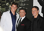 HOLLYWOOD, CA - AUGUST 15: Conor Dwyer, Sylvester Stallone and Ryan Lochte arrive at the 'The Expendables 2' - Los Angeles Premiere at Grauman's Chinese Theatre on August 15, 2012 in Hollywood, California.