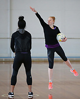 10.10.2017 Silver Ferns Samantha Sinclair in action during the  Silver Ferns training in Adelaide. Mandatory Photo Credit ©Michael Bradley.