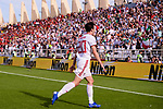 Sardar Azmoun of Iran celebrates scoring the team's first goal during the AFC Asian Cup UAE 2019 Group D match between Vietnam (VIE) and I.R. Iran (IRN) at Al Nahyan Stadium on 12 January 2019 in Abu Dhabi, United Arab Emirates. Photo by Marcio Rodrigo Machado / Power Sport Images