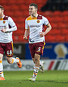 Motherwell's Simon Ramsden celebrate after he scores their goal.