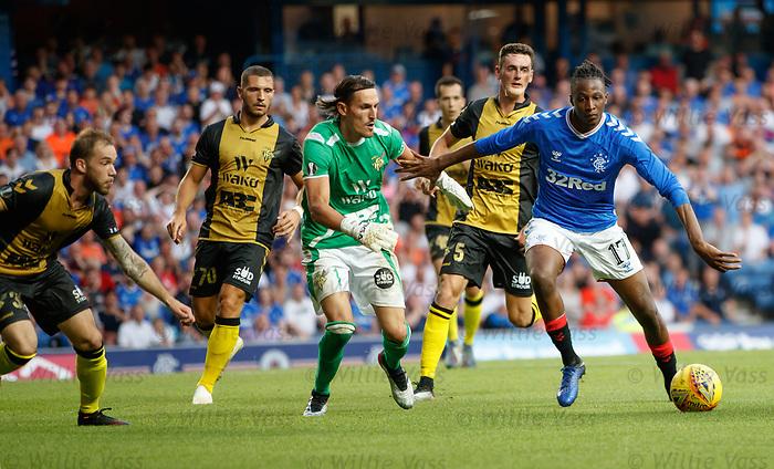 25.07.2019 Rangers v Progres Niederkorn: Joe Aribo attacks