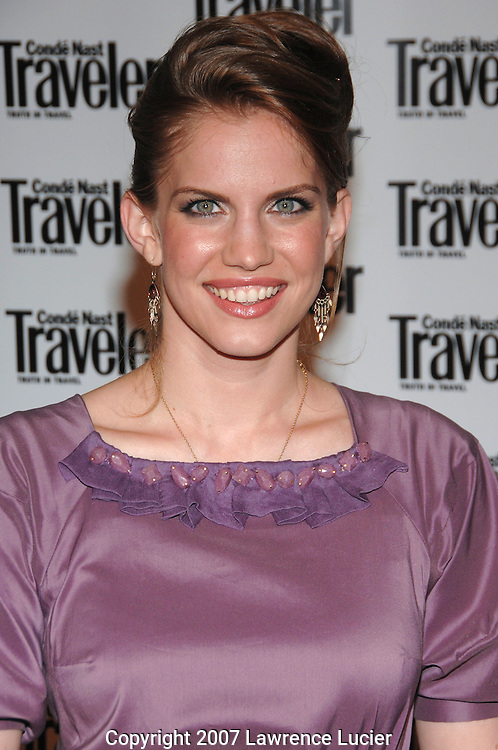 Actress Anna Chlumsky arrives at the Condé Nast Traveler Readers' Choice Awards October 10, 2007, at the Cooper-Hewitt Design Museum in New York City.. (Pictured : ANNA CHLUMSKY).