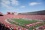 A general view of Camp Randall Stadium during the Wisconsin Badgers NCAA college football game against the San Jose State Spartans on September 11, 2010 at Camp Randall Stadium in Madison, Wisconsin. The Badgers beat San Jose State 27-14. (Photo by David Stluka)