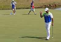 Birdie on 16 for Jaco Van Zyl (RSA) during Round Three of the 2015 Alstom Open de France, played at Le Golf National, Saint-Quentin-En-Yvelines, Paris, France. /04/07/2015/. Picture: Golffile | David Lloyd<br /> <br /> All photos usage must carry mandatory copyright credit (© Golffile | David Lloyd)