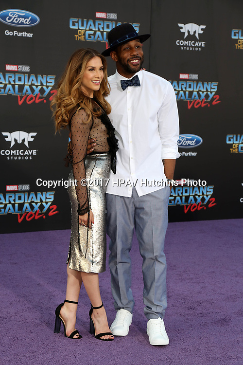 "LOS ANGELES - APR 19:  Allison Holker, Stephen Boss at the ""Guardians of the Galaxy Vol. 2"" Los Angeles Premiere at the Dolby Theater on April 19, 2017 in Los Angeles, CA"