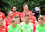 06.07.2019, Stadion an der Wuhlheide, Berlin, GER, 2.FBL, 1.FC UNION BERLIN , Mannschaftsfoto, Portraits, <br /> DFL  regulations prohibit any use of photographs as image sequences and/or quasi-video<br /> im Bild Neven Subotic (1.FC Union Berlin #63), Sebastian Polter (1.FC Union Berlin #9)<br /> <br /> <br />      <br /> Foto © nordphoto / Engler