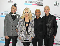 LOS ANGELES, CA - NOVEMBER 18: No Doubt at the 40th American Music Awards held at Nokia Theatre L.A. Live on November 18, 2012 in Los Angeles, California. Credit: mpi20/MediaPunch Inc. NortePhoto
