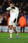 A dejected Memphis Depay of Manchester United at the end of the game<br /> - Barclays Premier League - Bournemouth vs Manchester United - Vitality Stadium - Bournemouth - England - 12th December 2015 - Pic Robin Parker/Sportimage