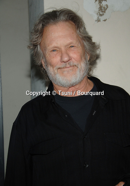 Kris Kistofferson  arriving at The WENDELL BAKER STORY Premiere at the Writer Guild Theatre In Los Angeles.<br /> <br /> headshot<br /> eye contact