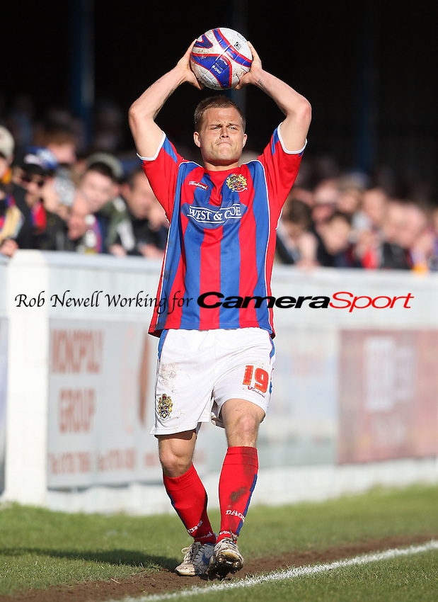 Danny Foster of Dagenham - Dagenham & Redbridge vs Macclesfield Town, League Division 2 at Victoria Road, Dagenham - 28/03/09 - MANDATORY CREDIT: Rob Newell/TGSPHOTO - Self billing applies where appropriate - 0845 094 6026 - contact@tgsphoto.co.uk - NO UNPAID USE.