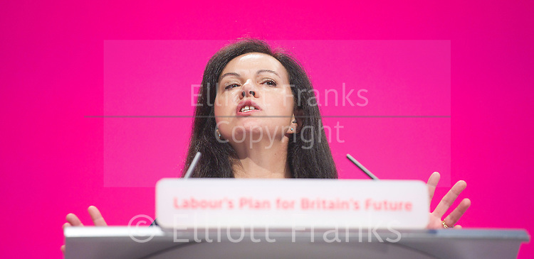 Labour Party Conference <br /> at Manchester Central, Manchester, Great Britain <br /> 23rd September 2014 <br /> <br /> Caroline Flint MP <br /> speech <br /> <br /> Photograph by Elliott Franks <br /> Image licensed to Elliott Franks Photography Services