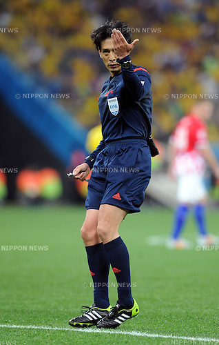 Yuichi Nishimura (Referee), JUNE 12, 2014 - Football / Soccer : FIFA World Cup Brazil 2014 Group A match between Brazil 3-1 Croatia at Arena de Sao Paulo in Sao Paulo, Brazil. (Photo by SONG Seak-In/AFLO)