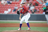 Dylan Cease (28) of the Winston-Salem Dash in action during the 2018 Carolina League All-Star Classic at Five County Stadium on June 19, 2018 in Zebulon, North Carolina. The South All-Stars defeated the North All-Stars 7-6.  (Brian Westerholt/Four Seam Images)