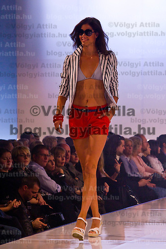 Model presents F&F creations designed for the 2010 spring and summer season. Budapest, Hungary, Thursday, 29. October. 2009. ATTILA VOLGYI