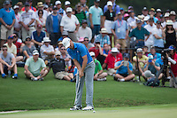 Jordan Spieth of the USA in action during his fourth round at the Emirates Australian Open Golf