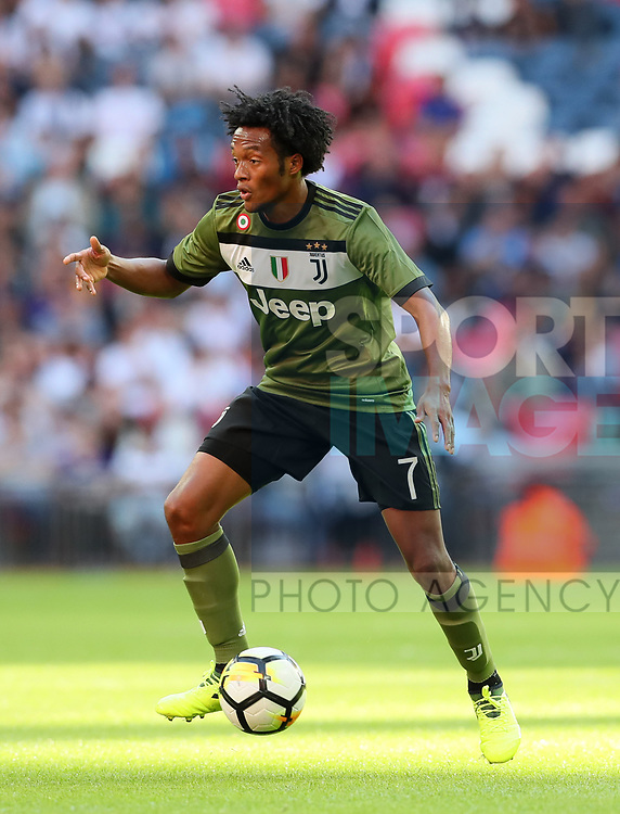 Juventus Juan Cuadrado in action during the pre season match at Wembley Stadium, London. Picture date 5th August 2017. Picture credit should read: David Klein/Sportimage