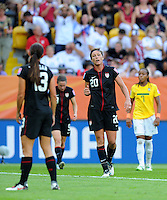 Abby Wambach during the FIFA Women's World Cup at the FIFA Stadium in Dresden, Germany on July 10th, 2011.