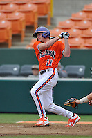 Sophomore infielder Adam Renwick (11) (Dorman High School) of the Clemson Tigers in a fall practice intra-squad Orange-Purple scrimmage on Sunday, September 27, 2015, at Doug Kingsmore Stadium in Clemson, South Carolina. (Tom Priddy/Four Seam Images)
