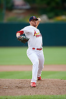 Springfield Cardinals relief pitcher Corey Littrell (40) delivers a pitch during a game against the San Antonio Missions on June 4, 2017 at Hammons Field in Springfield, Missouri.  San Antonio defeated Springfield 6-1.  (Mike Janes/Four Seam Images)
